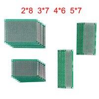 20 pçs/lote 5x7 4x6 3x7 2x8 centímetros Double Side Prototype Diy Placa de Circuito Impresso PCB Protoboard Universal Para Arduino