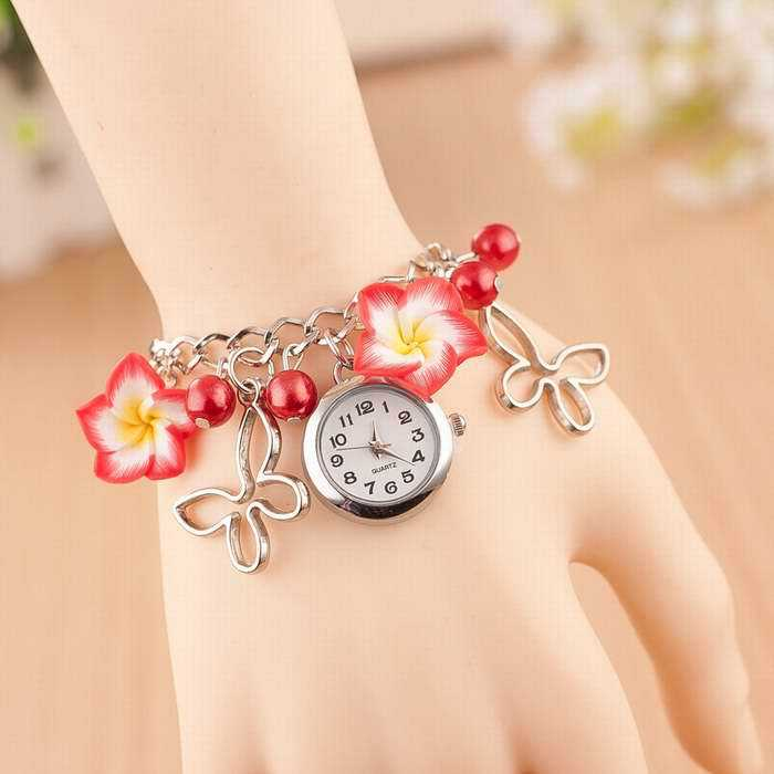 Womens Flower Bracelet Wristwatch Reloj Montre Femmes 2018 Lady Colorful Quartz Wrist Watches Girl Drss Clocks Hours Relogio
