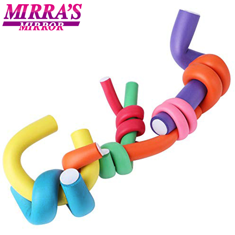 Mirra's Mirror 10pcs/Lot Magic Hair Curlers Rollers Curl Hair Spiral Foam Bendy Curling Hair Tools Flexible Rods Random Color