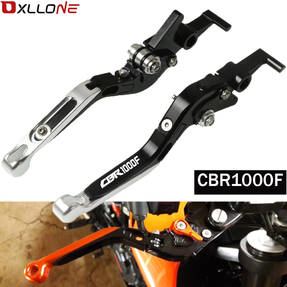 For <font><b>honda</b></font> <font><b>CBR1000F</b></font> CBR 1000F SC24 1993 1994 1995-1998 Motorcycle Lever CNC Adjustable Folding Extendable Brake Clutch Levers image