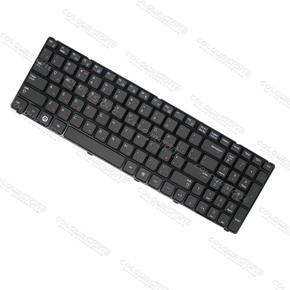 Original Brand New RU Laptop Keyboard for Samsung R580 Russian Black keyboard  (6)