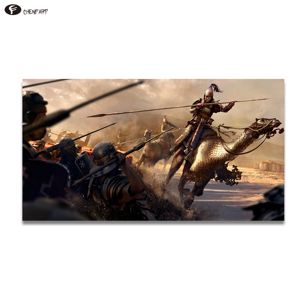 CHENFART Pop Art Movie Poster Video Game Total War Rome II Art Canvas Wall Pictures for Living Room no Framed image