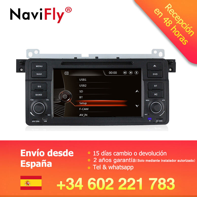 Factory price 7 Car DVD multimedia player radio For BMW E46 1998-2006 M3 With Car GPS Navigation audio video BT USB SD RDS E46