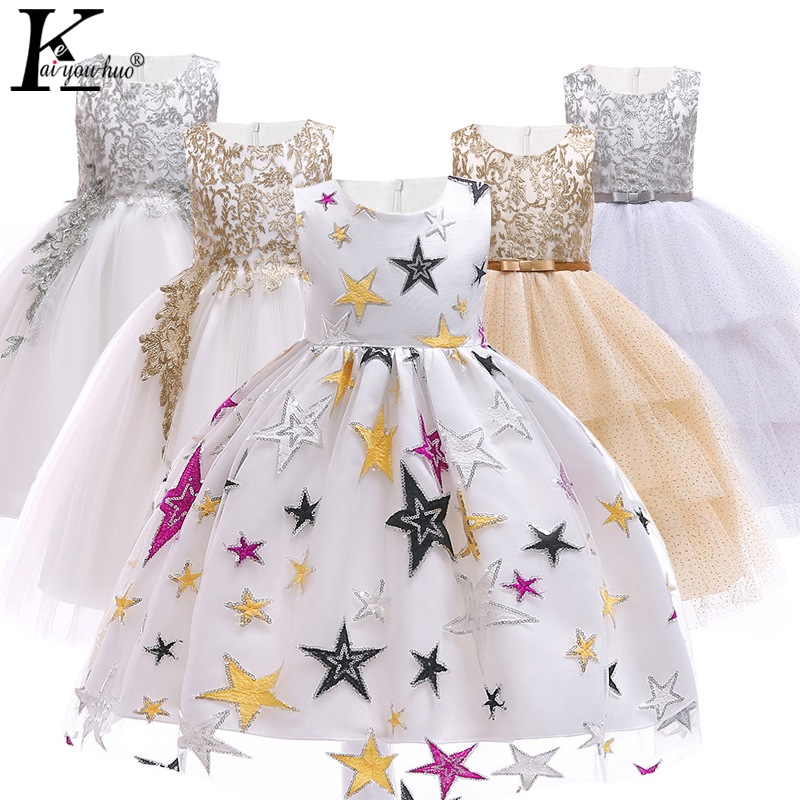 a43824aca19 Детские платья для девочек платье принцессы Детский костюм для девочек 2019  лето для маленьких девочек вечерние