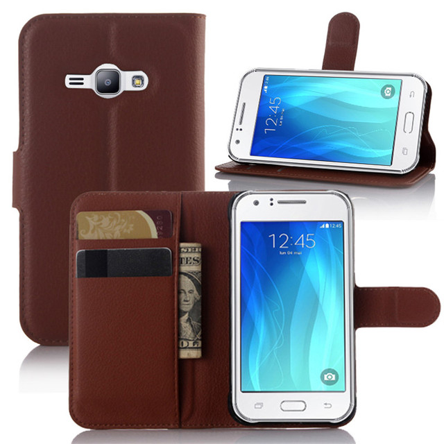 d41a4f0aeee For Carcasa Samsung Galaxy J1 Ace Case Luxury Leather Wallet Flip Book  Cover Cases for Samsung Galaxy J1 Ace Duos J110 J110H