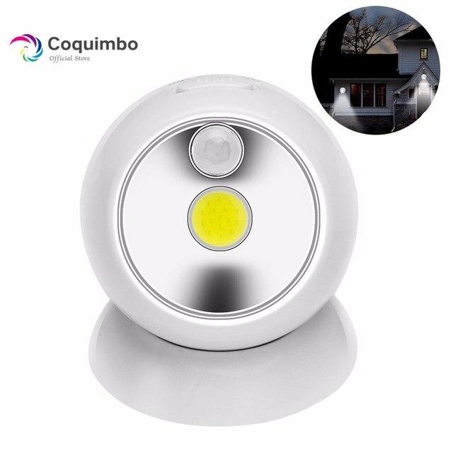 360 Degree Pir Motion Sensor Night Light For Hallway Battery Operated Cob Led Wall Lamp