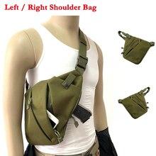 Mens Chest Bag Slung Sports Pocket Small Left / Right Shoulder Anti-theft Concealed Tactical Pistol Gun