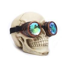 f5b64f476 Óculos Steampunk Óculos de Sol Das Mulheres Dos Homens Retro Gothic  Caleidoscópio Solda Cyber Óculos Do