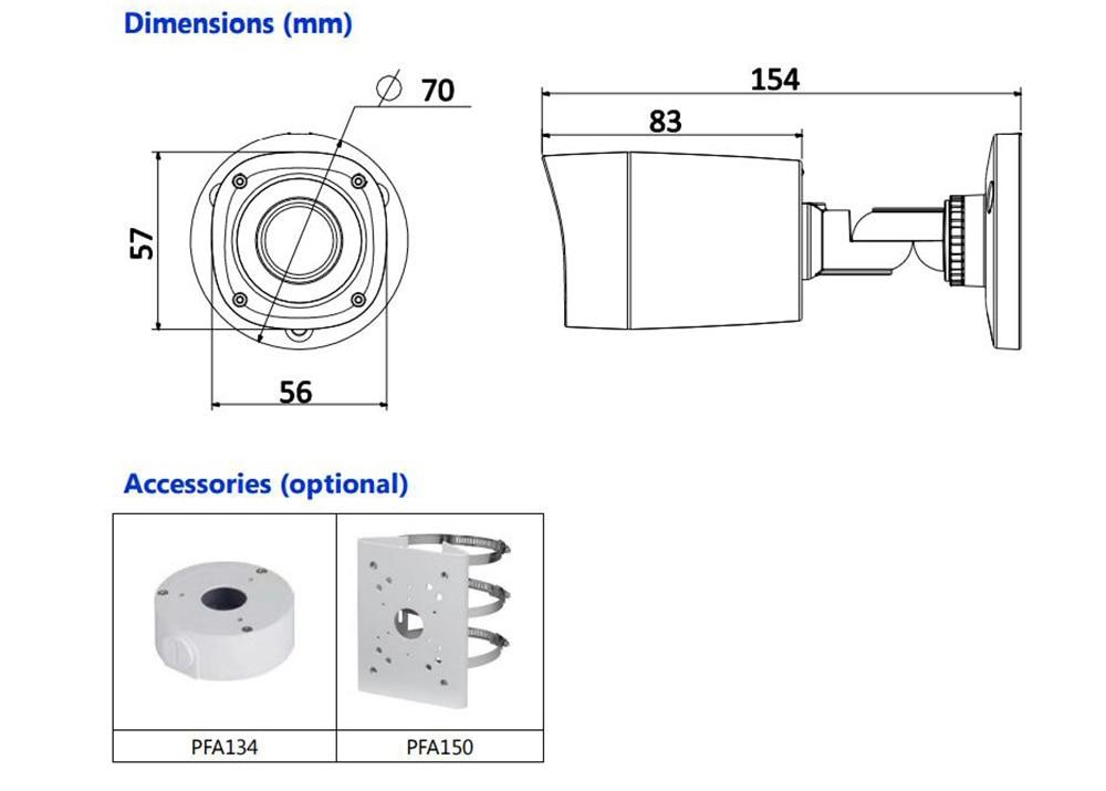 Free Shipping DAHUA CCTV Outdoor Camera 2MP 1080P IR Waterproof HDCVI Bullet Camera Without Logo HAC-HFW1220R