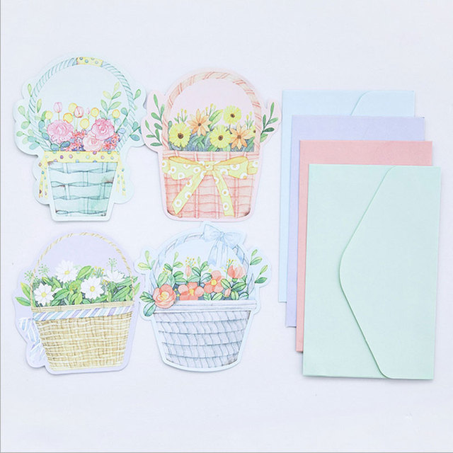4pcs/lot Flowery Writing paper envelopes letterhead office