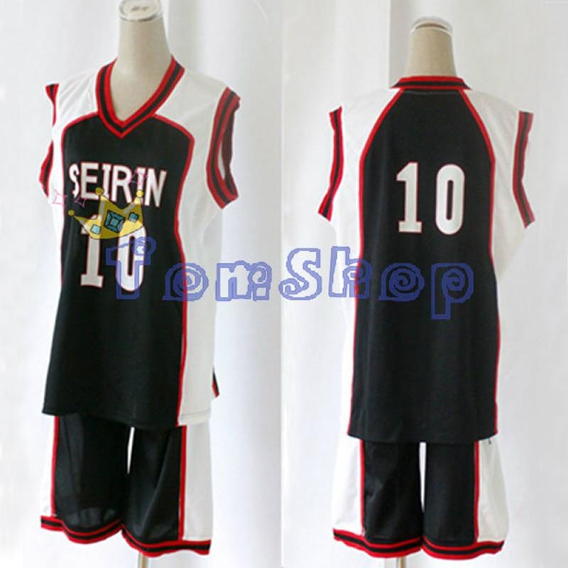 Anime KUROKO'S BASKETBALL Kuroko no Basuke SEIRIN #10 Kagami Taiga Guest Black Basketball Jersey Cosplay Costume Sports Uniform