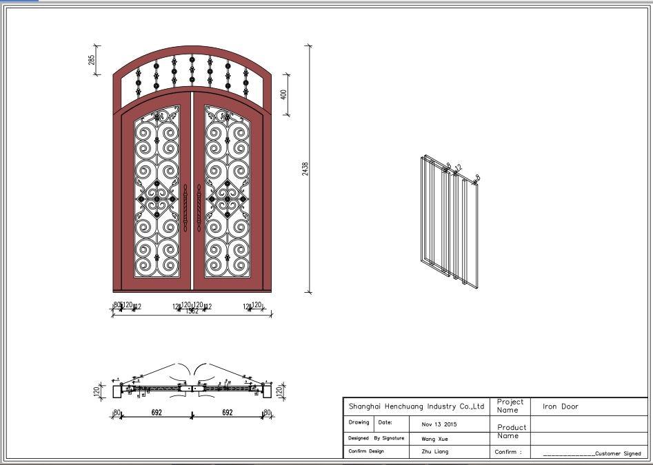 Hench 100% Steels Metal Iron  Front Door Iron Gate Designs