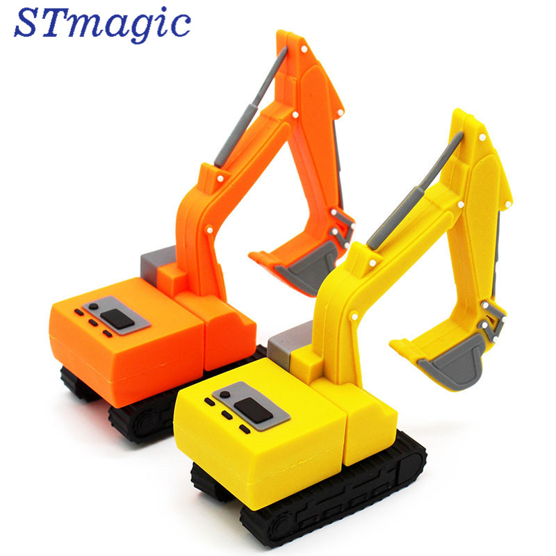 STmagic truck model usb flash drive pen drive excavator special car pendrive 8gb 16gb 32gb 64gb memory stick real capacity
