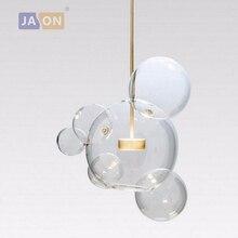 LED Postmodern Nordic Iron Glass Bubbles Designer Chandelier.Chandelier Lighting LED Light LED Lamp For Dinning Room Foyer цены
