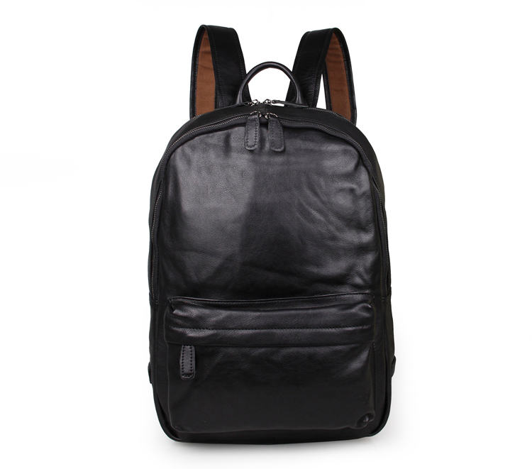 Nesitu Black Color Genuine Leather Unisex Men Backpacks Real Skin Woman Backpack Female #M7273Nesitu Black Color Genuine Leather Unisex Men Backpacks Real Skin Woman Backpack Female #M7273