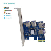 PCI Expansion Card To 4 Ports USB 3 0 Converter Adatper PCIE Riser Cards For Bitcoin