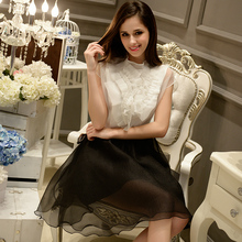Dabuwawa beading vintage blouse dress