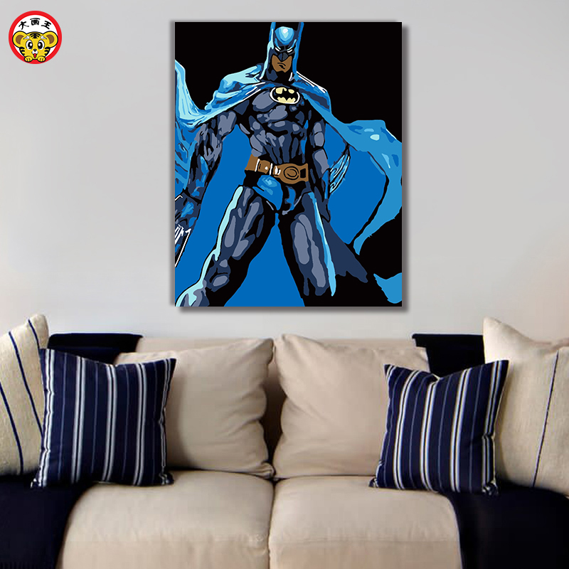 painting by numbers art paint by number Diy Batman decorative painting hand-filled color decoration painting oil paintin