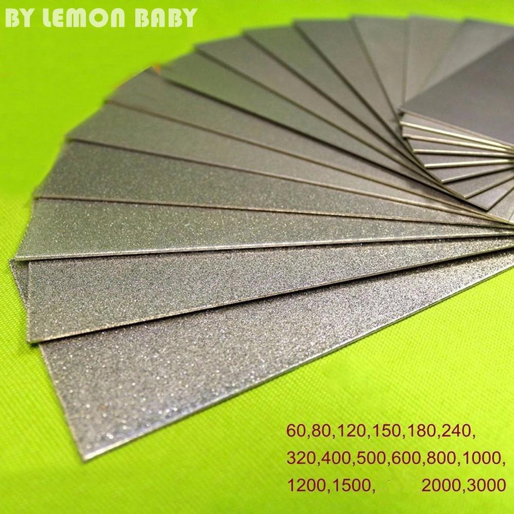 60-3000 Grit diamante piedra de afilar rectángulo herramienta cuchillo Whetstone para moler piedra madera molienda herramienta WLL9207