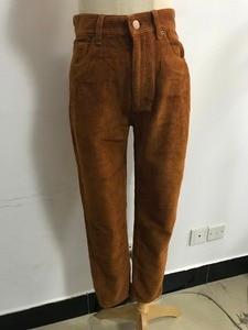 Image 5 - Vintage Macaron color Corduroy Pants Autumn Woman Mid Waist Ankle Length Loose Harem Pants Trousers Femme Casual Long Pants