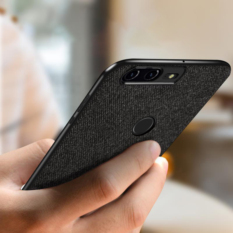 pretty nice 3d13c 13702 US $6.39 36% OFF|oneplus 5t case cover one plus 5t back cover silicone edge  men business fabric shockproof case coque MOFi oneplus 5 t case-in Fitted  ...