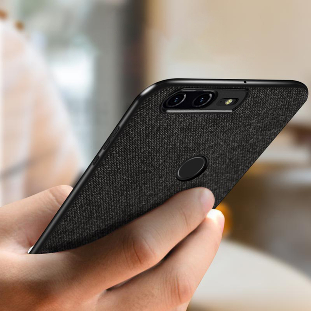 MOFi OnePlus 5T Luxury Fabric Shockproof Back Case Cover