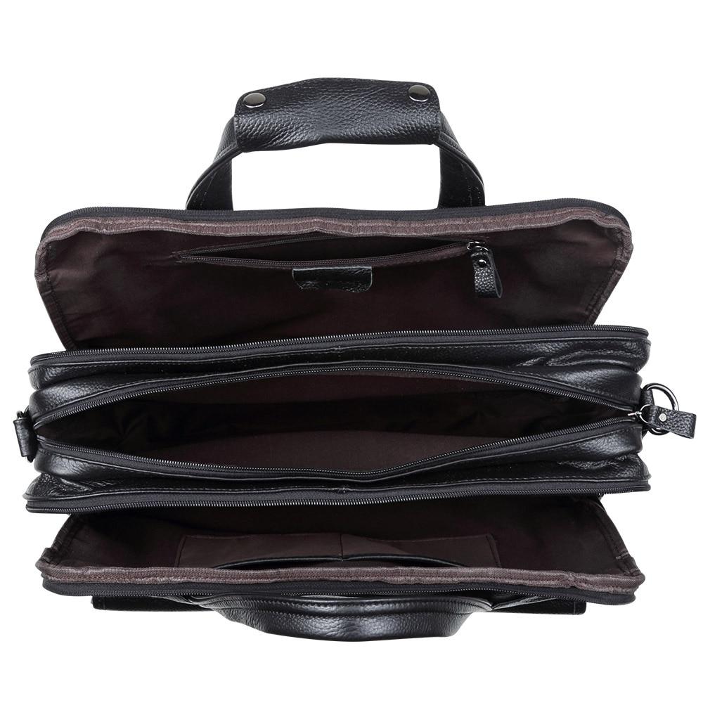 Mode Äkta Läder Män A4 Kontorsväska Handväska Business - Handväskor - Foto 4