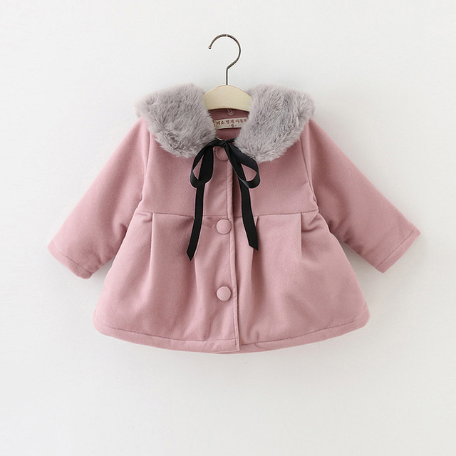 Baby Girl's Woolen cloth Fashion jackets Girls Outerwear Children's Coat  Winter Baby Coats