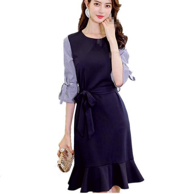 8fe7ee28fd4f2 B1933 2019 new Korean version spring and summer women's wear fashion  temperament trend dress cheap wholesale