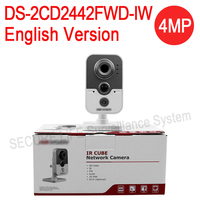 In Stock DHL Free Shipping DS 2CD2442FWD IW English Version 4MP WDR Mini Cube Cctv Security