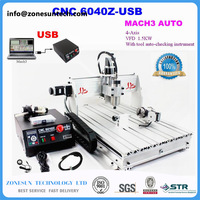 IncludeTax To Russia CNC Router 6040Z USB 4 Axis Mach3 Auto Engraving Machine USB Interface With