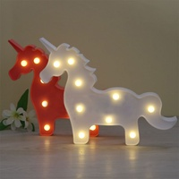 Marquee Sign Unicorn LED Letter Lamp 3D LED Baby Night Light Romantic Dim Mood Table Lamp