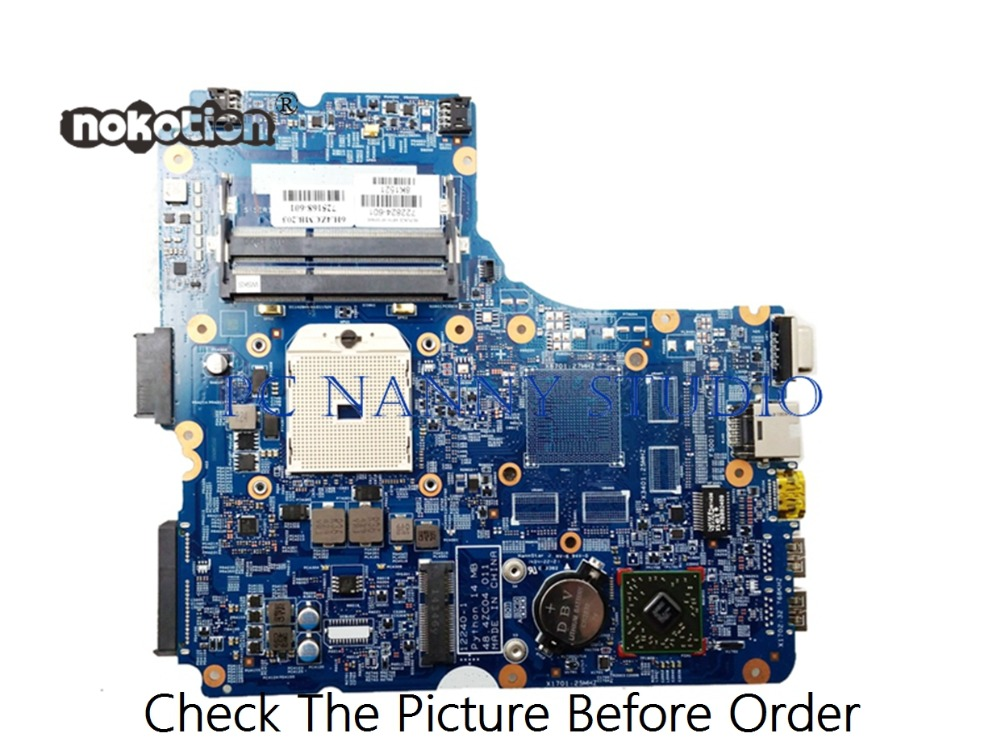PCNANNY 48.4ZC04.011 722824-601 for <font><b>HP</b></font> ProBook <font><b>455</b></font> G1 Laptop <font><b>Motherboard</b></font> DDR3 tested image