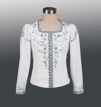 whte boy's ballet top ballet jacket for Man dance costumesmen's ballet top for competiton,ballet coat