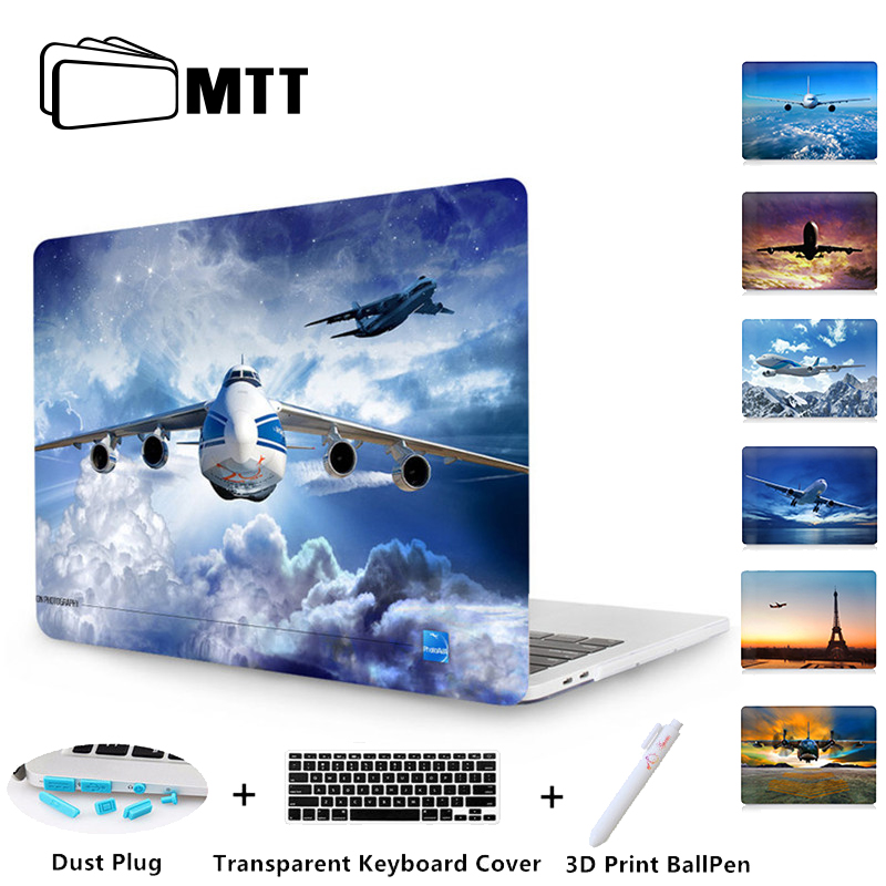 MTT Print Boeing aircraft Crystal Case For new Macbook Pro Retina 13 15 Touch Bar A1706 A1707 A1708 For Mac book Air 11 13 Cover