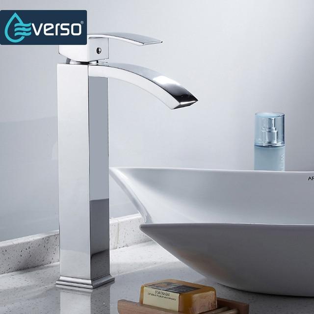 Waterfall Kitchen Faucet | Aliexpress Com Buy Everso Waterfall Kitchen Faucet Mixer Chrome