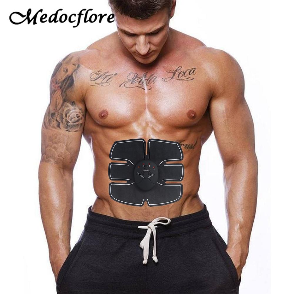 EMS Trainer Abdominal Muscle Stimulator Massage Electric Massagers For Body Training Effective Fat Burner Gymnic Belt Massager