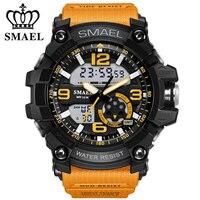 Orange Sport Watch Fashion Brand Watches LED Digital Wristwach Multi functional Men Clock Led Stopwatch S Shock Sport Watch Men