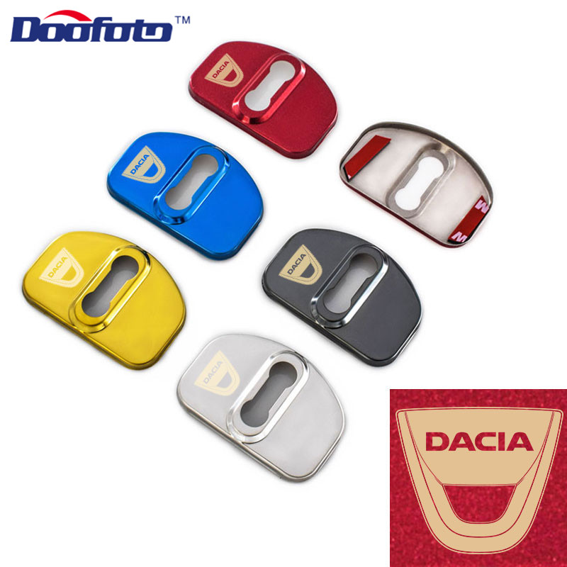 Doofoto Auto Door Lock Cover Stainless Steel Car Styling Case For Dacia Sandero Stepway For Audi For VW Accessories Car-Styling