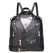 4 couleurs Attrayant veste en cuir PU femmes sacs à dos frais femelle sacs à bandoulière avec poche de moto