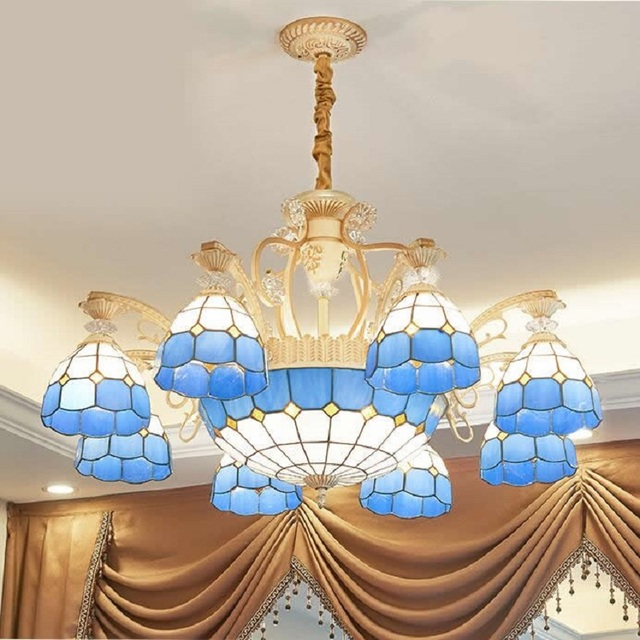 Us 195 0 Tiffany Style Modern Luxury Led Chandelier Remote Control Res Ceiling Crystal Chandeliers Lighting For Living Room In