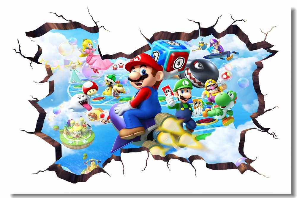Custom Canvas Wall Decor Mario Party Island Tour Poster