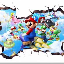 Custom Canvas Wall Decor Toad Island Tour Party Poster Super Smash Bros Wallpaper 3D Window Stickers Kids Bedroom Decals #0149#