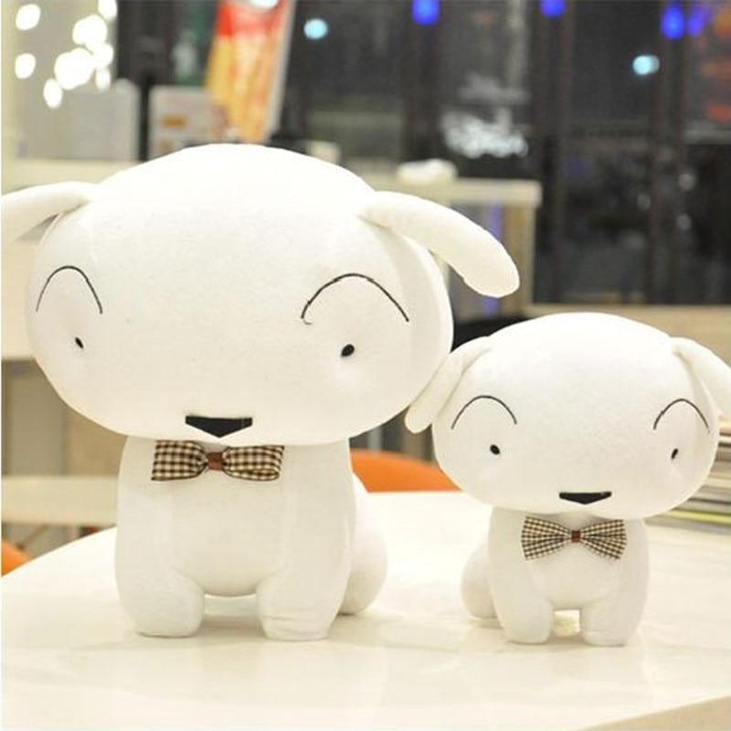 35cm Crayon Shin Chan Dog Plush Toy Nowara Shnnosuke Dog Plush Doll Soft Stuffed Toy The White Dog Doll yoda plush 1pc 922cm star wars figure plush toy aliens yoda soft stuffed plush doll toy kawaii toy for baby