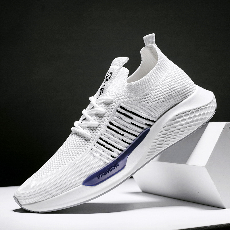 Hemmyi Autumn Men's Shoes Casual Trend Outdoor Sneakers Comfortable Footwear Breathable Flyknit Lace up Zapatos De Hombre