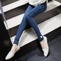 2016 лето материнства джинсы для беременных женщин теплая одежда для беременности стрейч родильных брюки сгустите беременные одежда