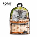 Cute Animal Kitty Cat Printing School Bag Unique Children Schoolbags for Teenage Boy Girls Primary School Book Bag Mochila Kids