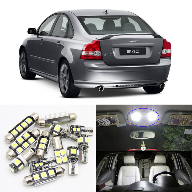 Us 15 53 7 Off 15pcs White Ice Blue Car Led Light Bulbs Interior Package Kit For 2004 2005 2006 Volvo S40 Step Courtesy Door Map Lamp No Error In