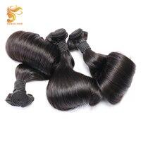 AOSUN HAIR 100% Remy Hair Extension Brazilian Fumi Egg Curly Human Hair Weave Bundles 3 Piece Double Drawn Fumi Egg 10 20Inch
