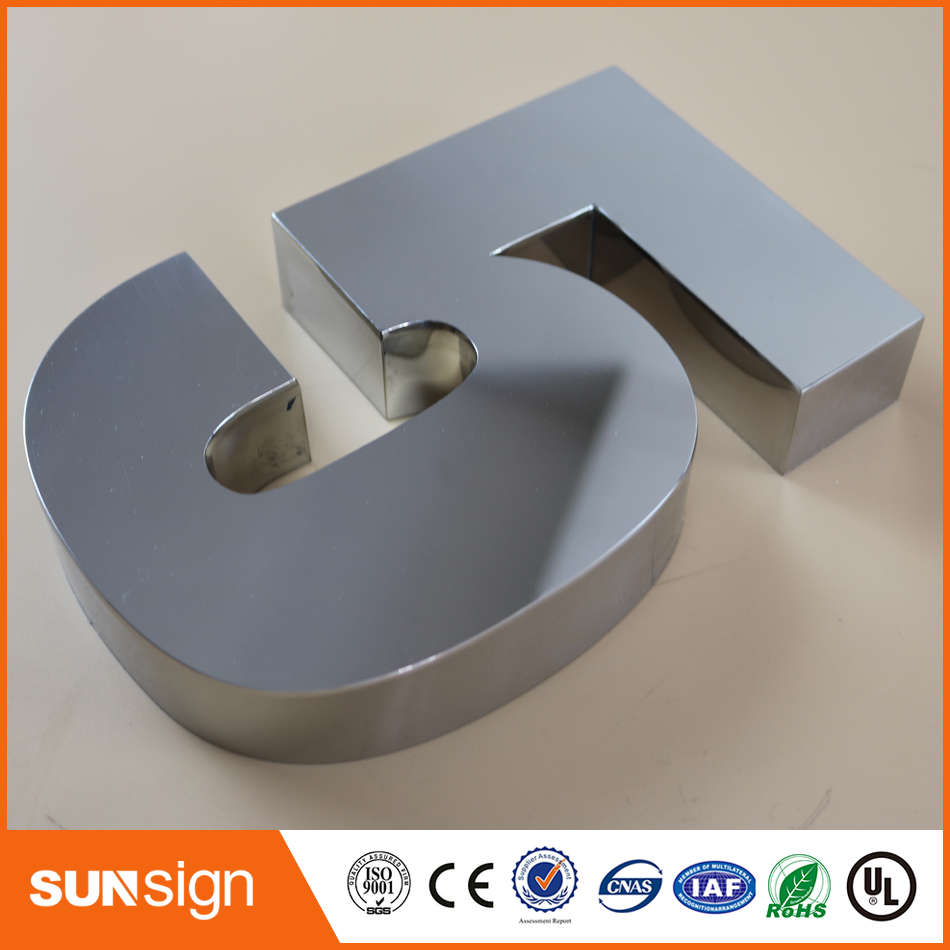 Digital Door House Number 5 Stainless Steel Numbers